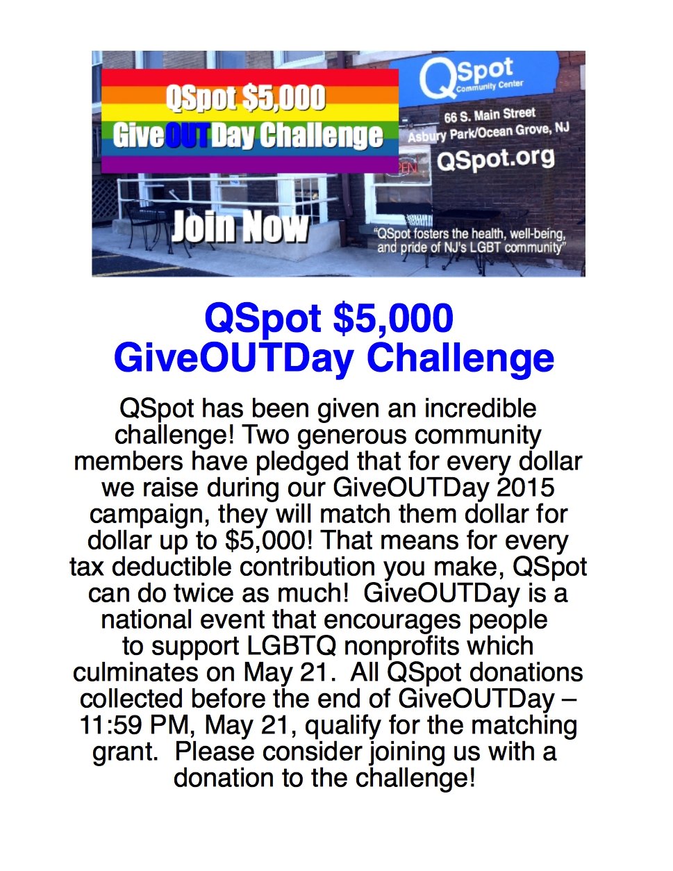 GDChallenge6   QSpot LGBT Community Center